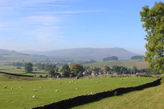 Widdale Fell, Hardraw village, North Yorkshire Stock Image