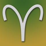 Widder-Aluminium-Symbol Stockbild