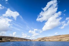 Reservoir on Yorkshire Moorland Royalty Free Stock Photography