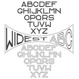 wide alphabet for labels Royalty Free Stock Image
