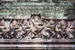 Wide Angkor Wat Stone Carving Stock Photography