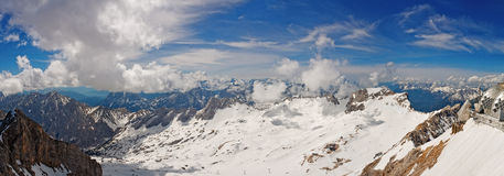The wide angle. Panorama from the highest point in Germany Stock Image