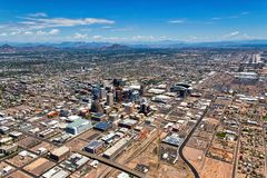 Downtown Phoenix, Arizona and the Valley of the Sun stock images