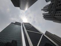 Wide angle, amazing skyscrapers- Kuala Lumpur - Malaysia. Royalty Free Stock Image