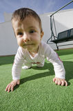 Wide angle baby Stock Images