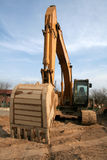 Wide Angle Backhoe royalty free stock image