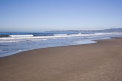 Wide Angle Beach. A wide angle view of a beach Royalty Free Stock Photo