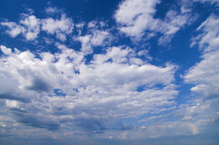 Wide angle blue sky Stock Photography