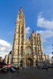 Wide angle Cathedral Antwerp Royalty Free Stock Photography