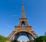 Wide angle on the Eiffel Tower Royalty Free Stock Photos