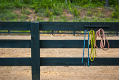 Wide angle empty riding ring Stock Photos
