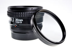 Wide angle fixed range 20mm lens. Royalty Free Stock Photography