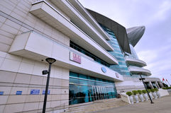 Wide angle of Hongkong convention and exhibition center Stock Image
