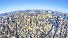Wide angle image of a New York Manhattan Stock Photos