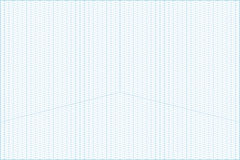 Wide angle isometric grid graph paper background. Vector blue wide angle isometric grid graph paper horizontal background with axes Royalty Free Stock Image