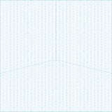 Wide angle isometric grid graph paper background. Vector blue wide angle isometric grid graph paper square background with axes Royalty Free Stock Photos