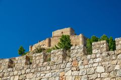 Jalance castle bottom view with walls Stock Image