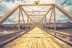 Wide Angle Landscape of the Dorothy Ferry Bridge royalty free stock photo