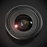 Wide angle lens. A close up of a wide angle lens Royalty Free Stock Photo