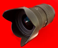lens and hood Royalty Free Stock Images