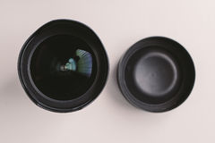 Wide angle Lens. Camera wide angle lens in white background Royalty Free Stock Images