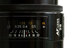 Wide angle lens Stock Photography