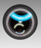 Wide-angle lens for digital camera. Front view Stock Images