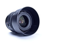 Wide angle lens with hood Royalty Free Stock Photos