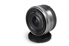 Wide-angle lens Royalty Free Stock Images