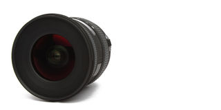 Wide angle lens on white background Royalty Free Stock Image