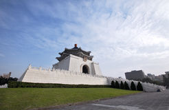Wide angle Memorial Hall. A wide angle shot taken of Chiang Kai-Shek memorial hall in Taipei City, Taiwan Royalty Free Stock Photo