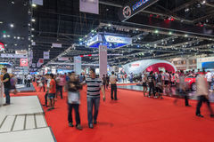 Wide angle of  Motor show event Royalty Free Stock Images
