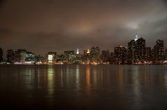 Wide angle of New york skyline. A shot of new york city skyline at night Stock Photo