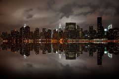 Wide angle of New york skyline. A shot of new york city skyline at night Stock Images