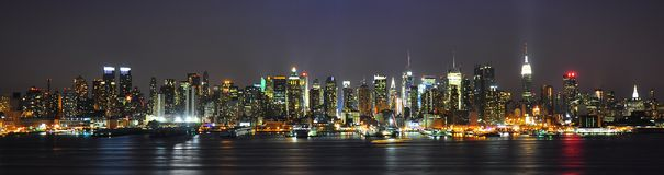 Wide angle of Nyc SKyline Royalty Free Stock Image
