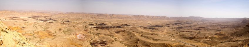 Wide angle panorama of Desert landscape Royalty Free Stock Photo