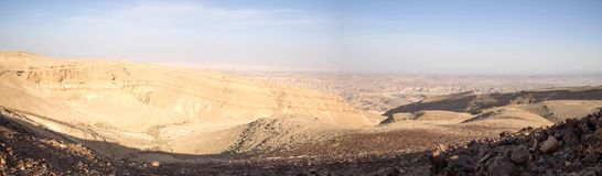 Wide angle panorama of Desert landscape Stock Images