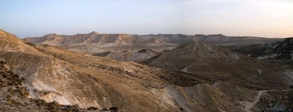 Wide angle panorama of Desert landscape Royalty Free Stock Photos