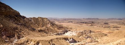 Wide angle panorama of Desert landscape Royalty Free Stock Image