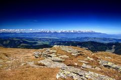 Free Wide Angle Panorama Of Western And High Tatra Peaks Slovakia Royalty Free Stock Images - 106519549
