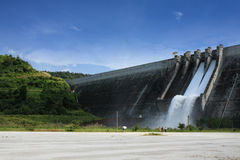 Wide angle photo of dam Royalty Free Stock Images