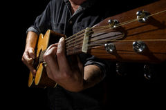 Wide Angle Guitar Royalty Free Stock Photos