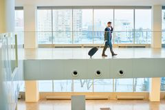 Asian Businessman in Modern Airport royalty free stock image