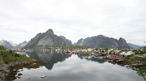Wide angle on Reine Royalty Free Stock Photography