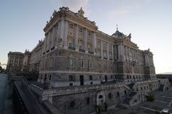 Wide Angle of Royal Palace, Madrid Royalty Free Stock Photo
