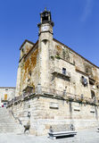 Wide angle of Saint Martin's church in Trujillo. Spain royalty free stock photography