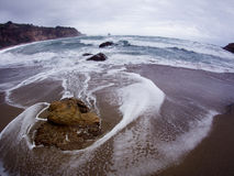 Wide angle seascape Royalty Free Stock Photography