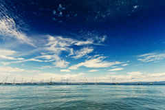 Wide angle seascape Stock Photography