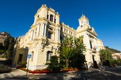 Wide angle shot of Ayuntamiento of Malaga Stock Photography