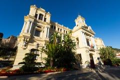 Wide angle shot of Ayuntamiento of Malaga Royalty Free Stock Photography